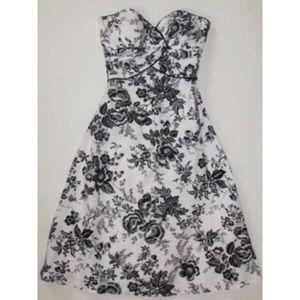 WHBM strapless floral Dress Sundress sweetheart 0